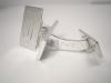 Manschettknappar i silver med monogram