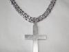 Kors i silver med ruff yta