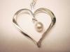 Hängsmycke i silver med odlad pärla