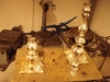 Ljusstakar i silver ena lagas båda omfylles