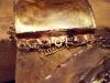 Dräktsmycke i silver lagning av öglor och kedja 02