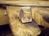 Silverring med bergkristall Wiwen Nilsson skall lagas