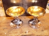 Saltkar i silver med förgylld insida lagade och förgyllda
