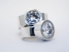 Blingbling i silver, Kubic zircon 12 mm